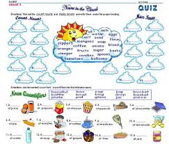 grammar worksheets grade 2 count and mass nouns