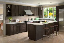 presidential kitchen cabinet white oak wood grey raised door kitchens with espresso cabinets