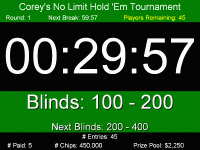 Blinds Timer The Tournament Director Poker Clock Review Home Poker Tourney