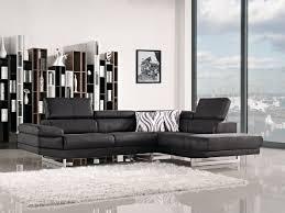 Black Sectional Sleeper Sofa by Modern Black Fabric Sectional Sofa