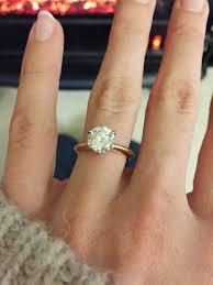 my wedding ring engagement ring solitare rounddiamond goldband engagement