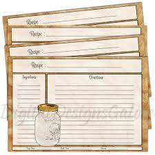 recipe card template 4x6 28 images free 4x6 recipe card