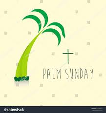 palm sunday banner religious holidays stock vector 611406617