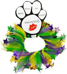 mardi gras jester ribbon dog party mardi gras pet dog collar mardi gras pet dogs and dog collars