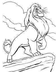awesome mufasa simba father coloring download u0026 print