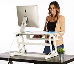 dual monitor stand up desk amazon com the house of trade white standing desk height adjustable