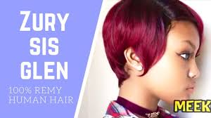 cheap human hair wig zury sis a line glen meekfro review