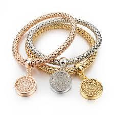 charm bracelet for 2016 new fashion bracelets bangles jewelry gold silver chain