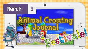 animal crossing journal new leaf viva festivale youtube
