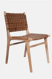 Leather Chair Design Leather Dining Chair Strapping Teak U0026 Tan H O M E Pinterest