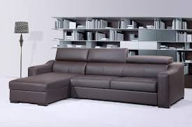 Modern Leather Sleeper Sofa Italian Leather Sleeper Sectional With Storage And Motion Heads