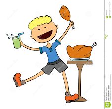 funny eating lunch clipart