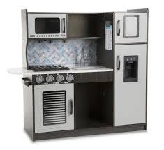 Pretend Kitchen Furniture by Melissa U0026 Doug Chef U0027s Kitchen Pretend Play Set Charcoal Toys
