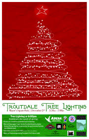troutdale annual tree lighting west columbia gorge chamber of
