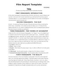 how to write a movie report worksheet movie review template how to
