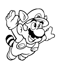 mario coloring pages black white super mario drawings