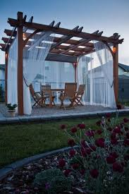 Decorating Pergolas Ideas Hang Curtains On Your Pergola Pergola Curtains Pergolas And