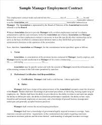 doc 600730 sample employment u2013 employment contract template 10