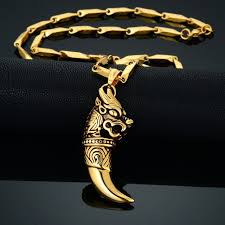 hip necklace chain images Cool dragon wolf tooth necklaces pendants male stainless steel jpg