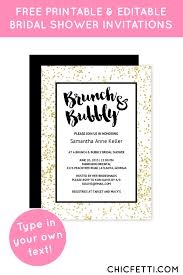 brunch invitations templates free printable gold bridal shower invitation templates bridal