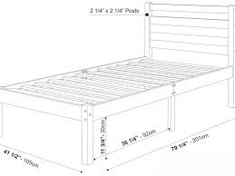 Twin Bed Frame With Headboard by Bed Frame Awesome How Long Is A Twin Bed Frame Dimensions For