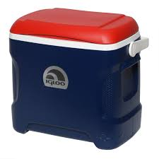 amazon com igloo contour cooler blue red white 30 quart