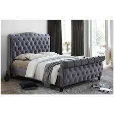 Velvet Bed Frame Denver Grey Or Black Velvet King Size Bed Frames Velvet Bed