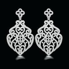 Cubic Zirconia Chandelier Earrings Cubic Zirconia Chandelier Earrings Green Sterling Silver Cubic