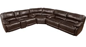 Rooms To Go Leather Recliner 2 999 99 Cindy Crawford Auburn Hills Brown 3pc Reclining