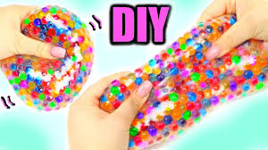 make a super squishy orbeez stress ball beads and plays