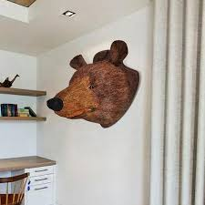 new wall mounted brown bear grizzly bear head wall hanging