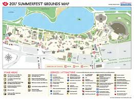 grounds map summerfest the world u0027s largest music festival