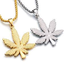 long leaf necklace images New iced out weed hiphop necklace pendant silver plated maple leaf jpg