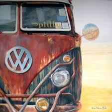 van volkswagen vintage splitty vw van painting by irina kuksova irina kuksova