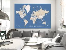 Printable World Map Personalized Printable World Map With Cities Capitals Countries