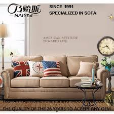 china american country style fabric sofa for living room furniture