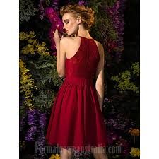 plus size burgundy bridesmaid dresses knee length chiffon lace bridesmaid dress burgundy plus
