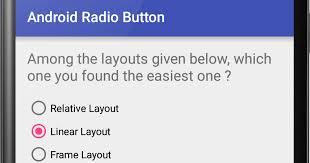 android radio button android radio button exle viral android tutorials exles
