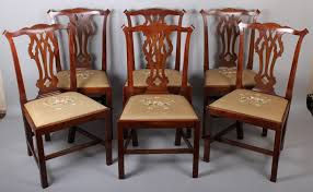 Chippendale Dining Room Chairs Set Of Six George Iii Period Mahogany U0027country Chippendale U0027 Dining