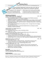 resume sles administrative manager job summary for resume resume exles with job description therpgmovie