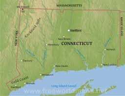 Connecticut State Map by Physical Map Of Connecticut