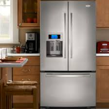 Kitchen Aid Cabinets White Kitchen Cabinet And Kitchenaid Refrigerator Inside