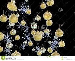 gold and silver xmas decorations stock illustration image 59013055