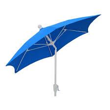 Patio Umbrella White Pole 7 5 Ft Terrace Patio Umbrella With White Pole Tilt In Pacific