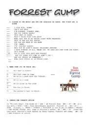 english teaching worksheets forrest gump
