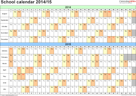 calendars 2014 2015 as free printable pdf templates