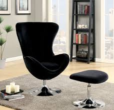 Accent Chair With Ottoman Shelia Black Accent Chair With Ottoman From Furniture Of America