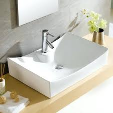 square bathroom sinks modern ceramic rectangular vessel bathroom