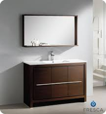 fresca allier 36 quot wenge brown modern bathroom vanity w fresca allier 48 modern bathroom vanity wenge dark brown finish