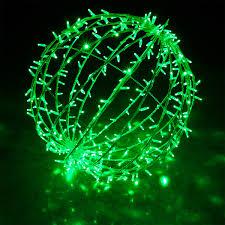 green led commercial mega sphere light fold flat